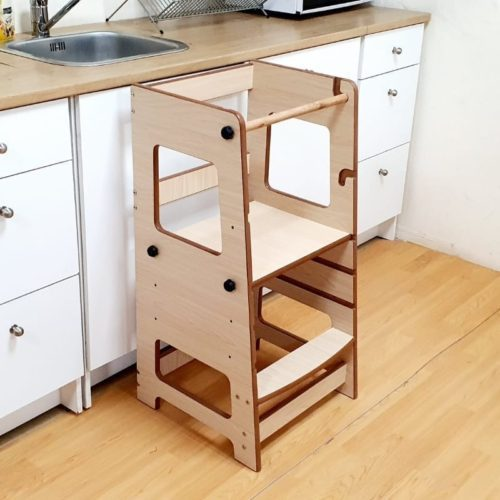 Adjustable Learning Tower in Maple