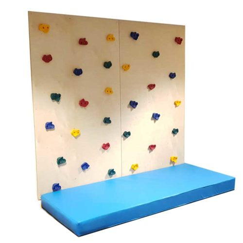 2 Panel Climbing Wall with Safety Mats