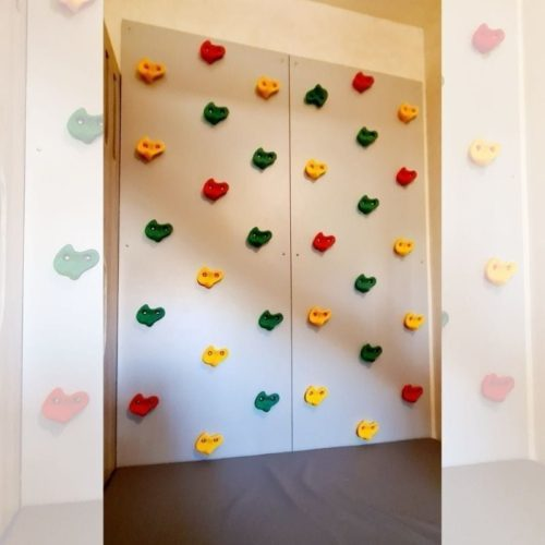 Climbing Wall with Safety Mat - 2 Panels