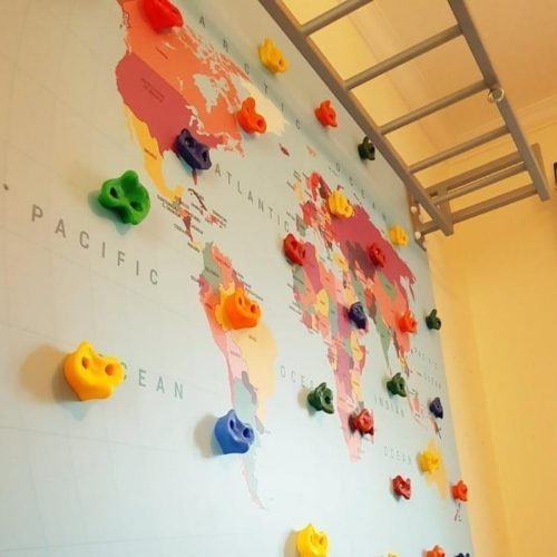 Map Climbing Wall with Monkey Bars